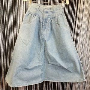 Vintage Venezia Sportswear A line blue jean skirt
